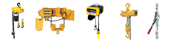 Air, Electric, Hydraulic and Manual Hoists